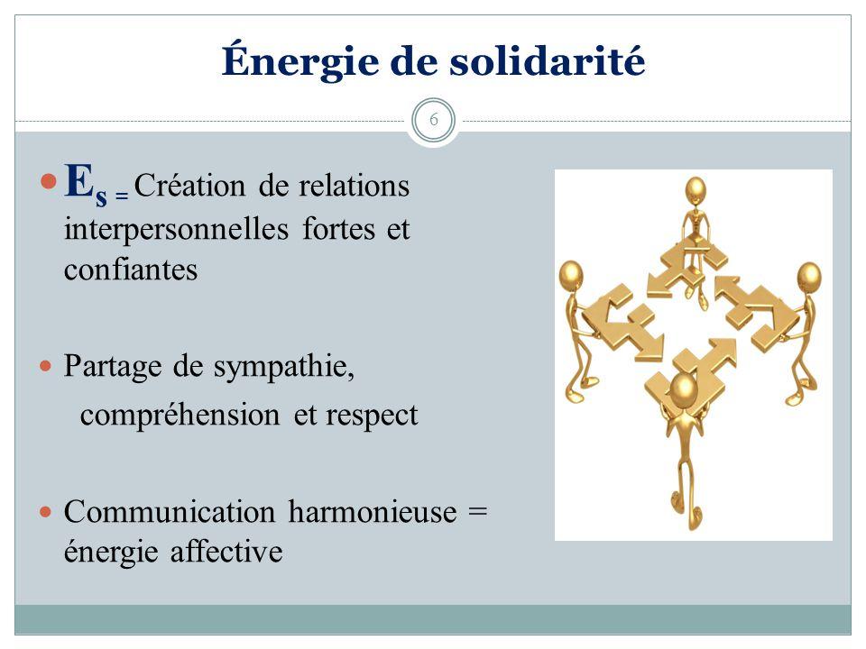 Es = Création de relations interpersonnelles fortes et confiantes