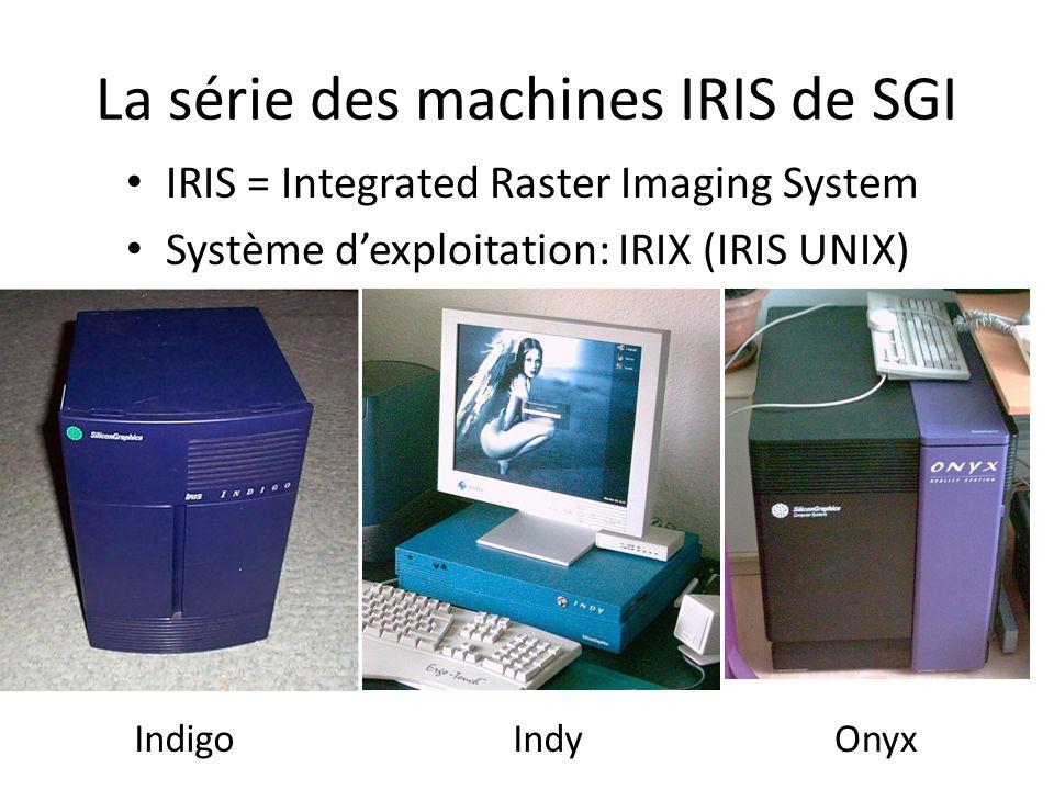 La série des machines IRIS de SGI