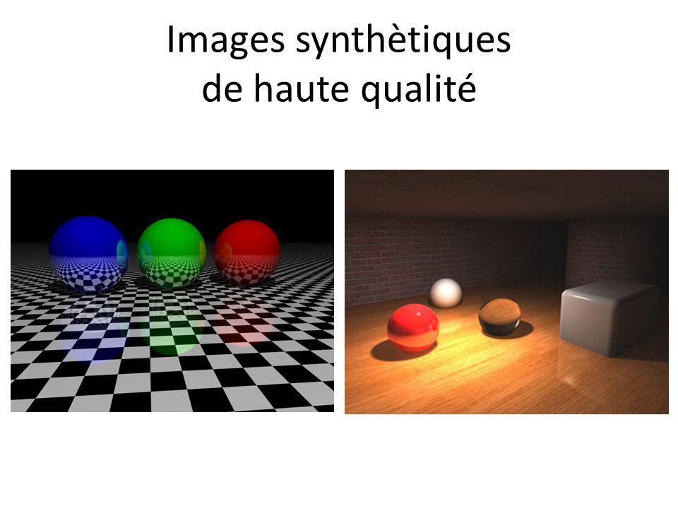 Images synthètiques de haute qualité