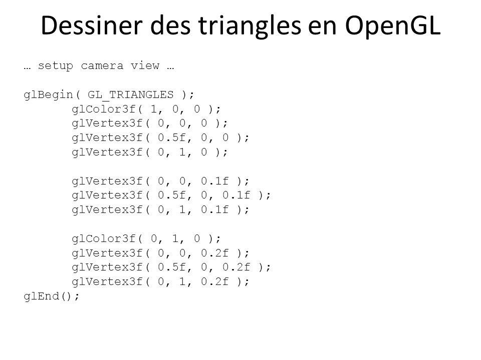 Dessiner des triangles en OpenGL