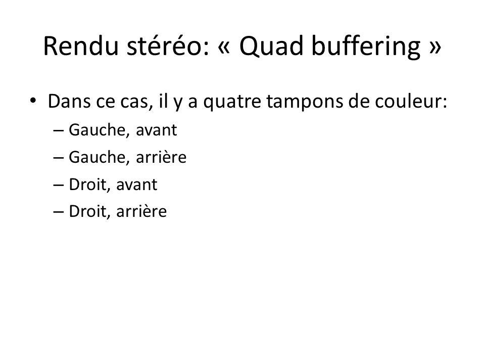 Rendu stéréo: « Quad buffering »