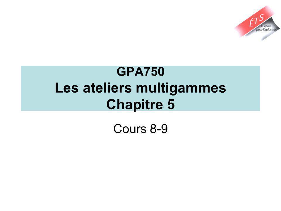 GPA750 Les ateliers multigammes Chapitre 5