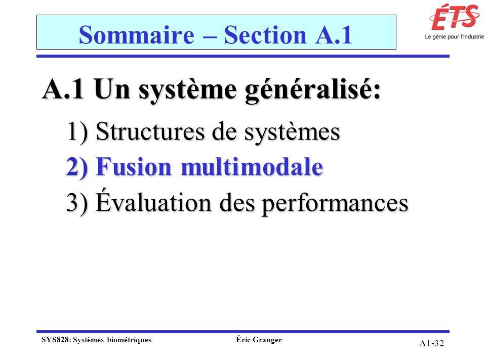 A.1 Un système généralisé: