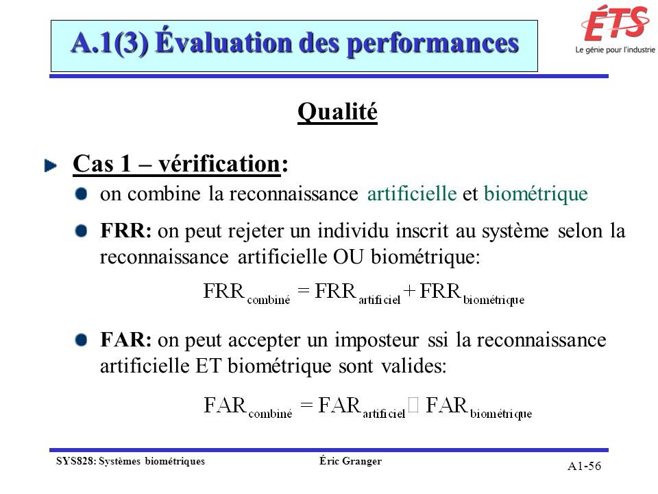 A.1(3) Évaluation des performances