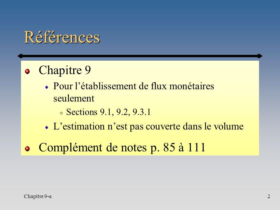 Références Chapitre 9 Complément de notes p. 85 à 111