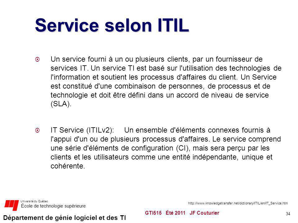 Service selon ITIL