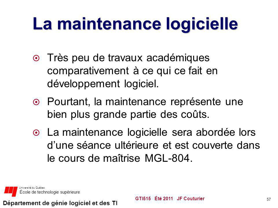 La maintenance logicielle