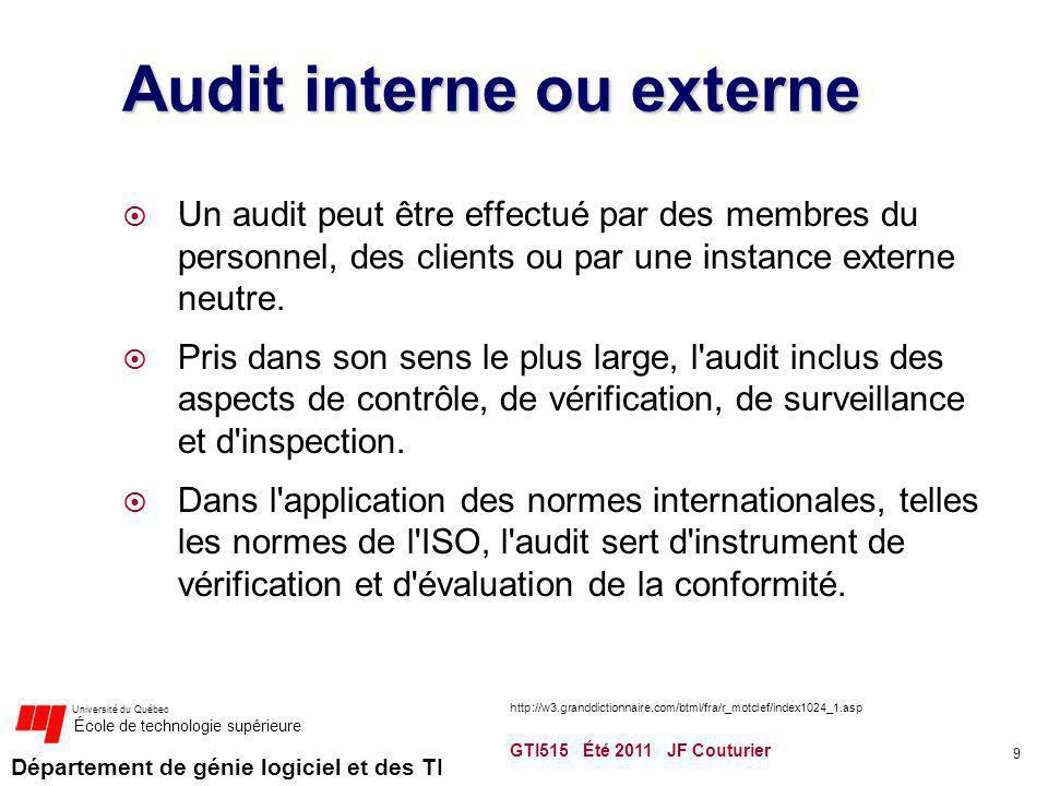 Audit interne ou externe