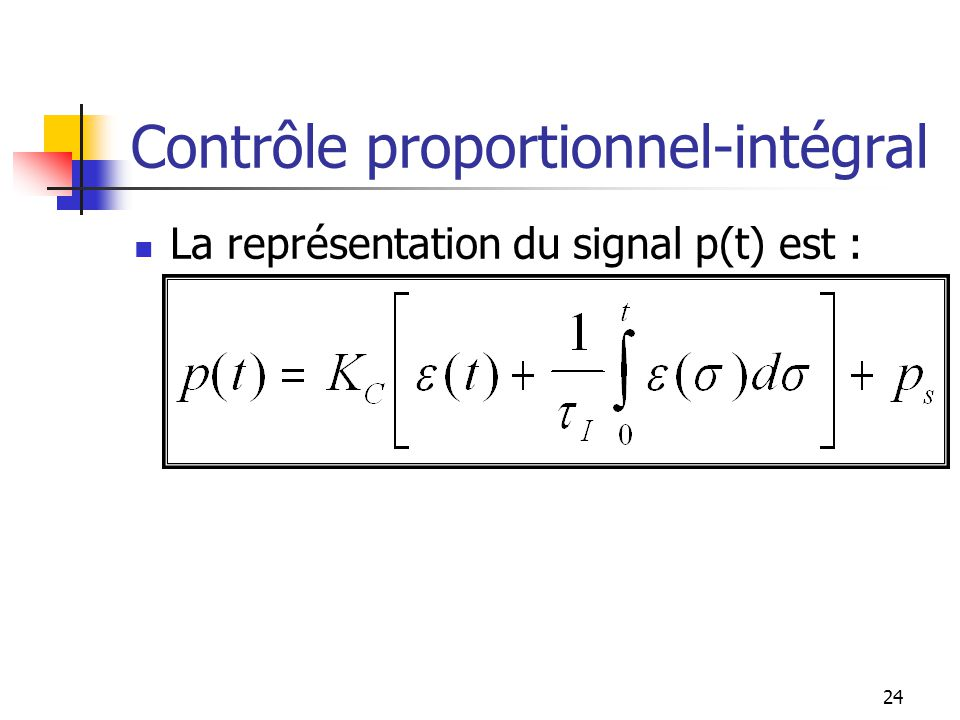 Contrôle proportionnel-intégral
