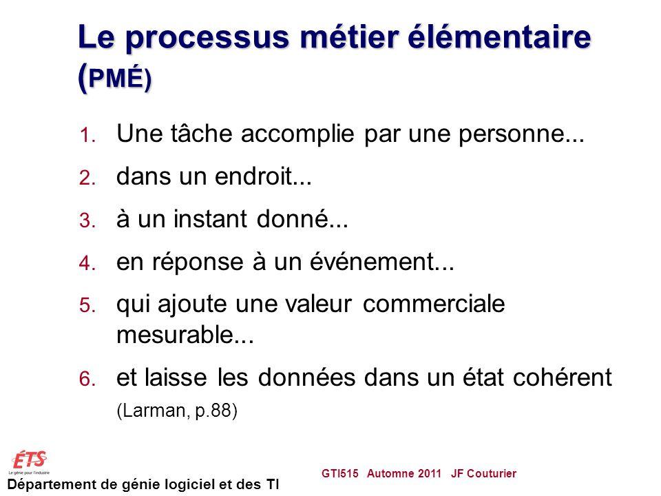 Le processus métier élémentaire (PMÉ)