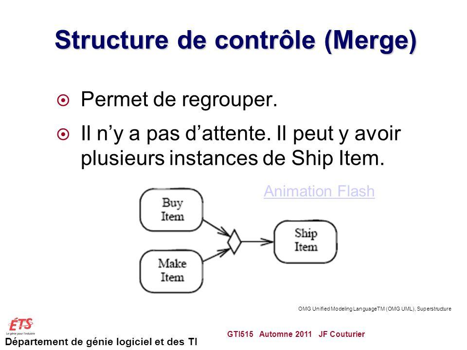 Structure de contrôle (Merge)