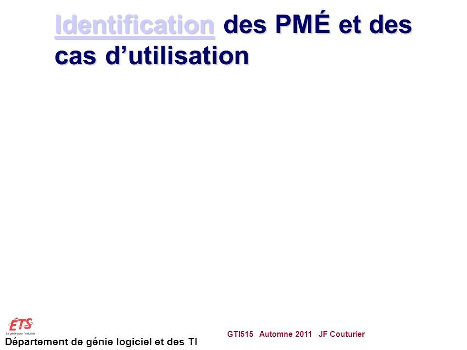Identification des PMÉ et des cas d'utilisation