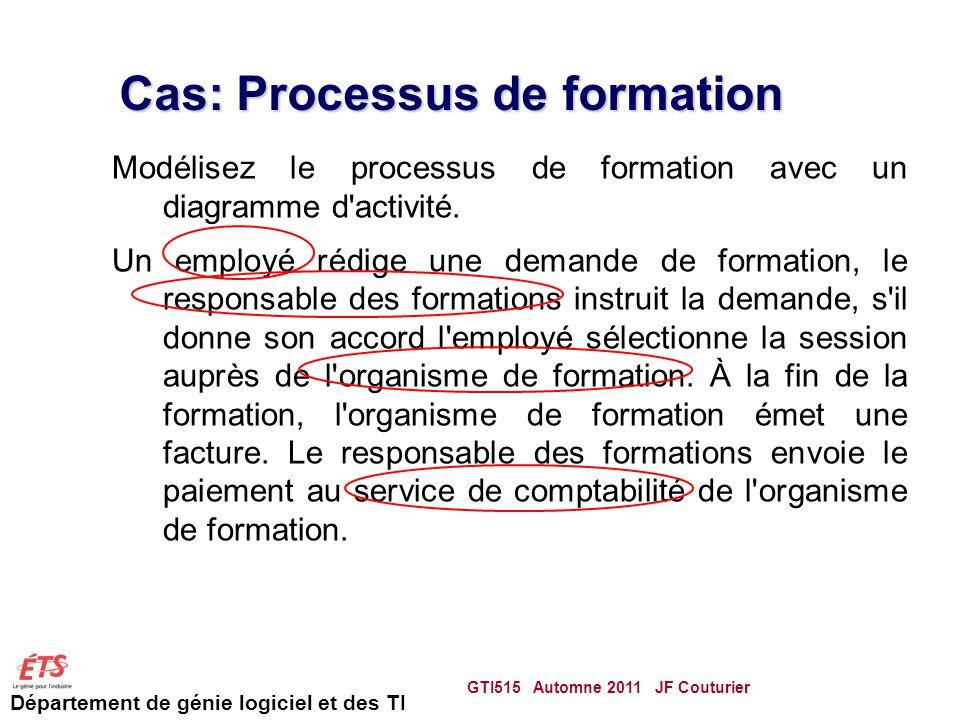 Cas: Processus de formation