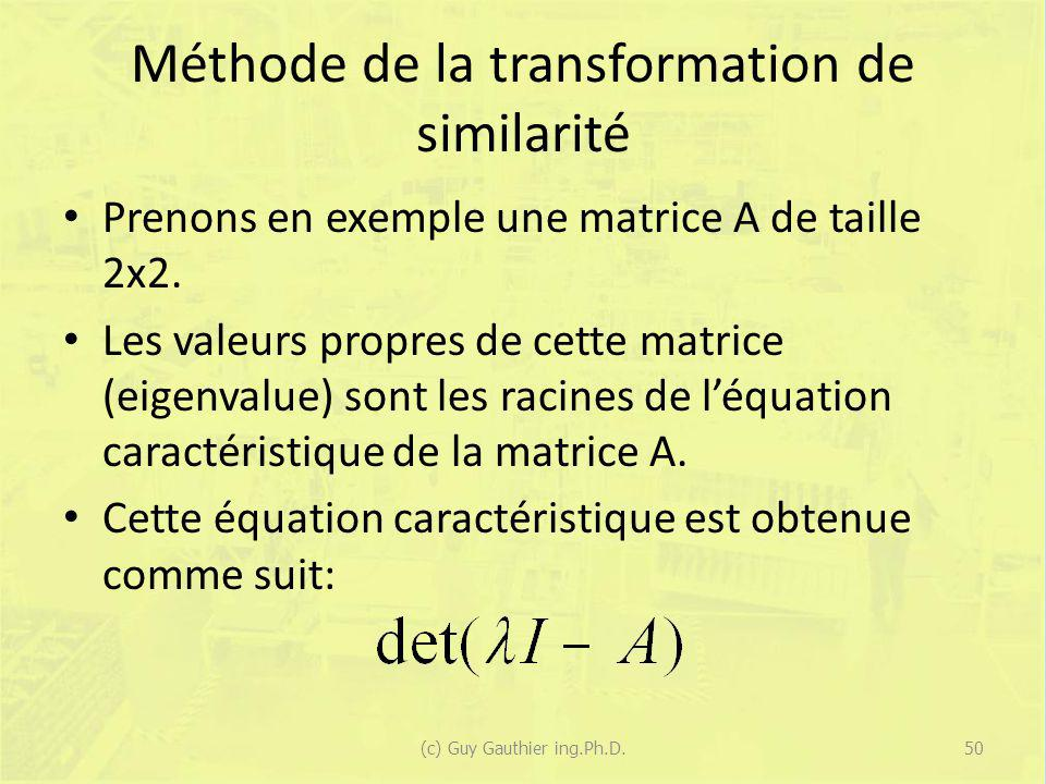Méthode de la transformation de similarité