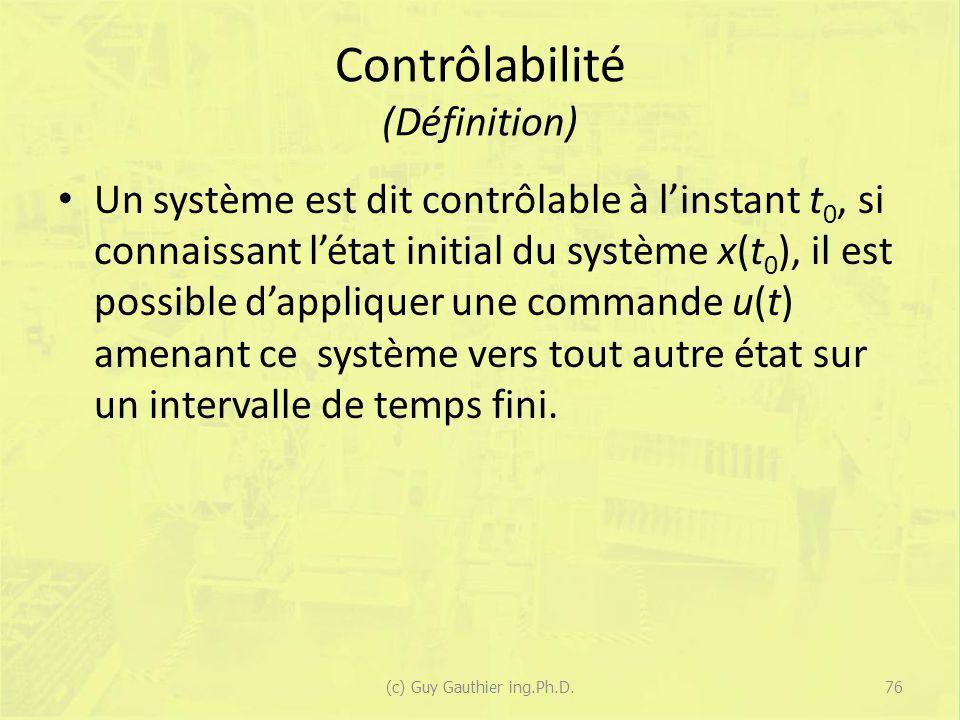 Contrôlabilité (Définition)
