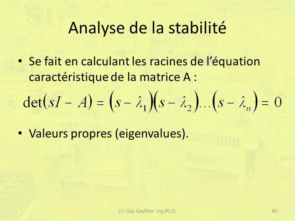 Analyse de la stabilité