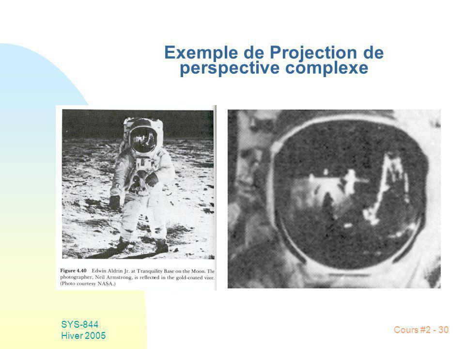 Exemple de Projection de perspective complexe