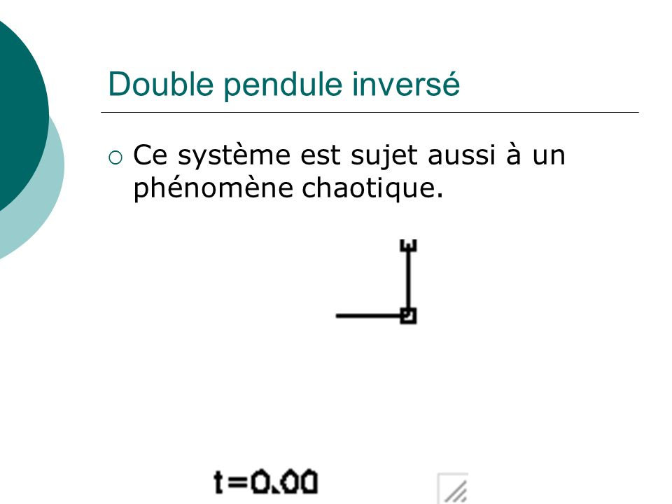 Double pendule inversé