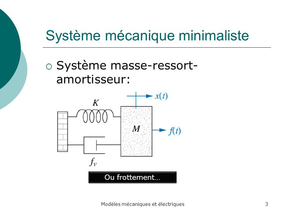 Système mécanique minimaliste