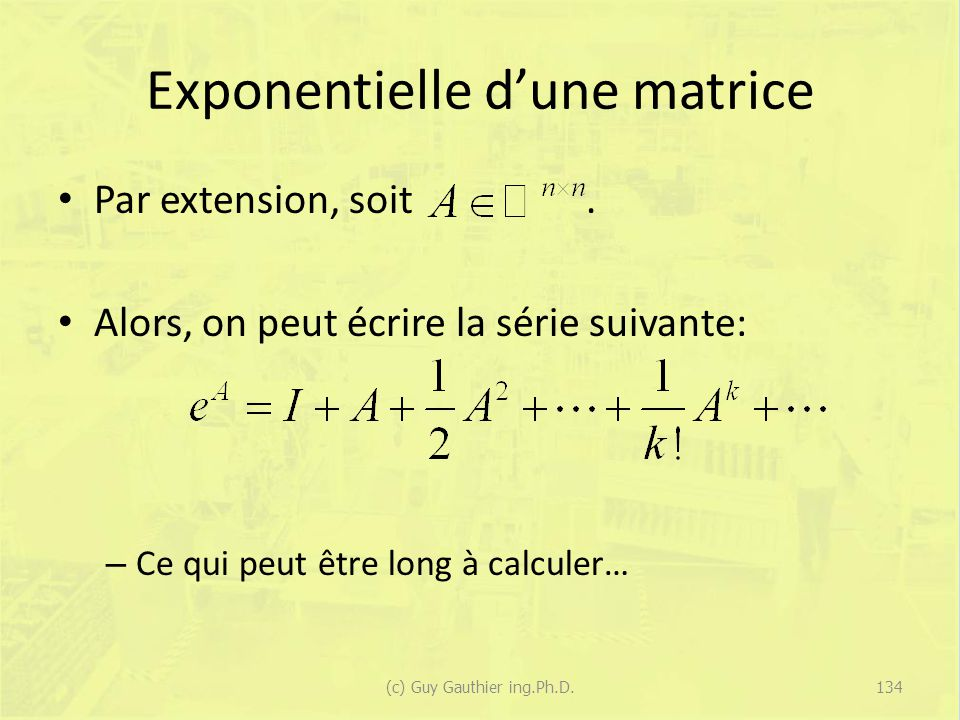 Exponentielle d'une matrice