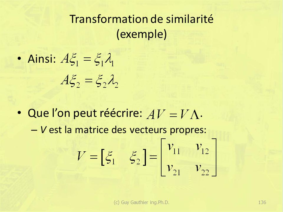 Transformation de similarité (exemple)
