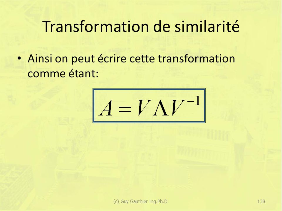 Transformation de similarité