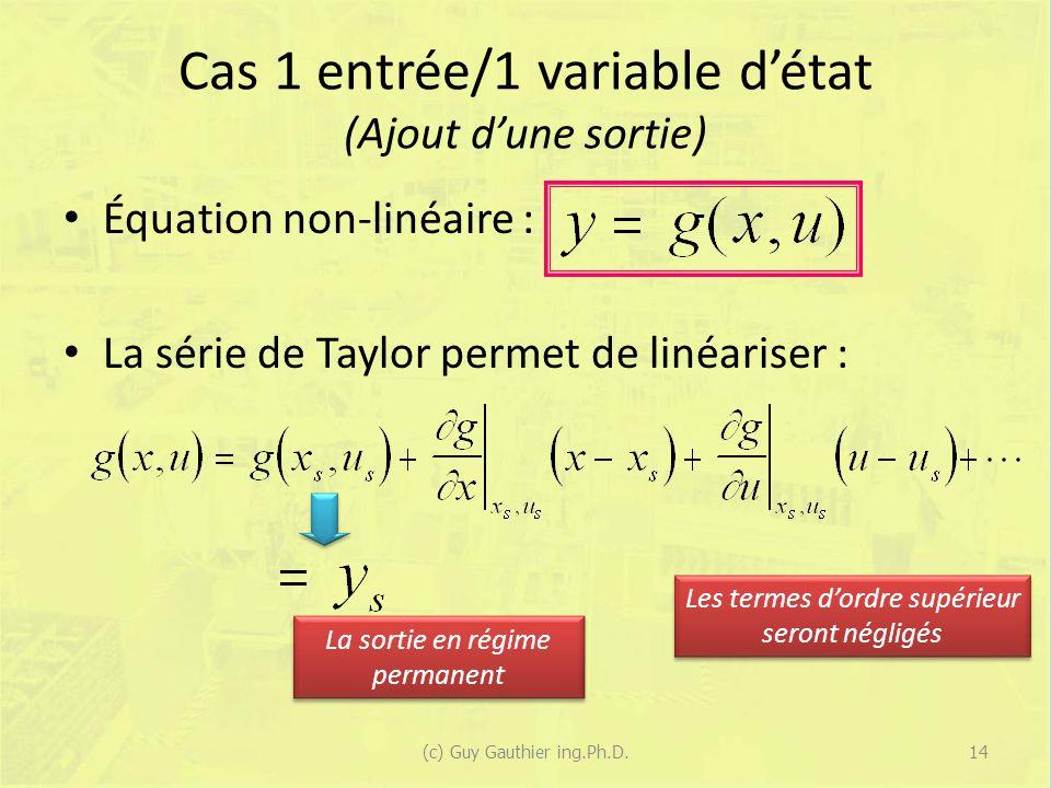 Cas 1 entrée/1 variable d'état (Ajout d'une sortie)
