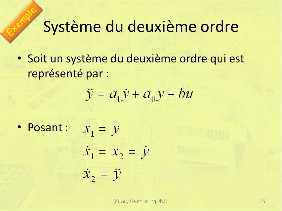 Système du deuxième ordre