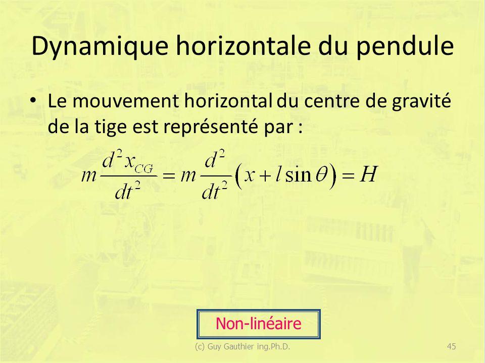 Dynamique horizontale du pendule