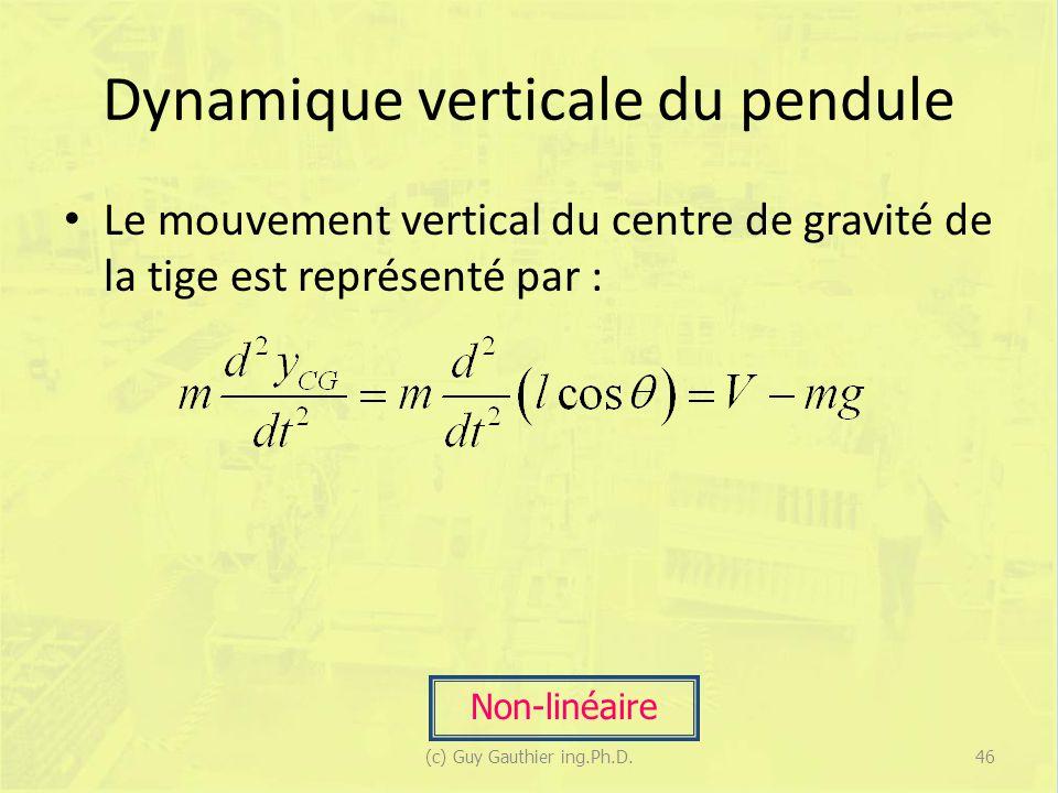 Dynamique verticale du pendule