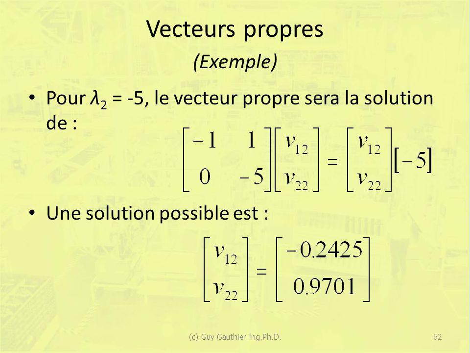 Vecteurs propres (Exemple)