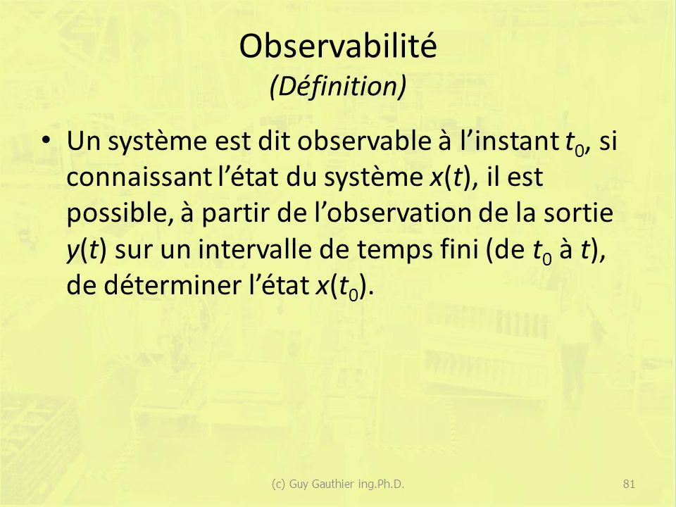 Observabilité (Définition)
