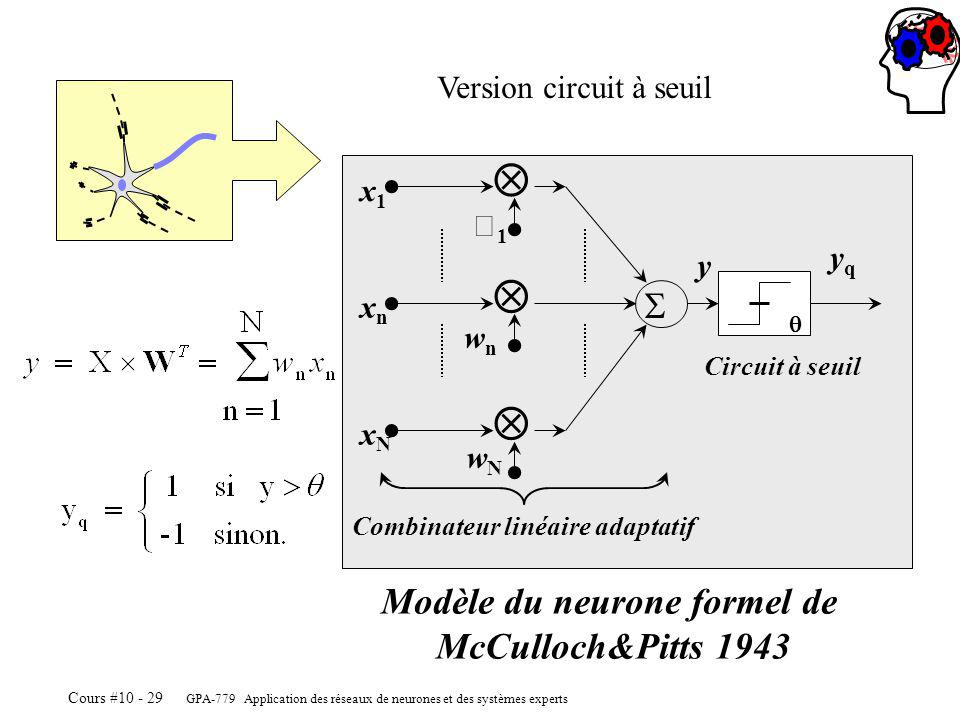Modèle du neurone formel de