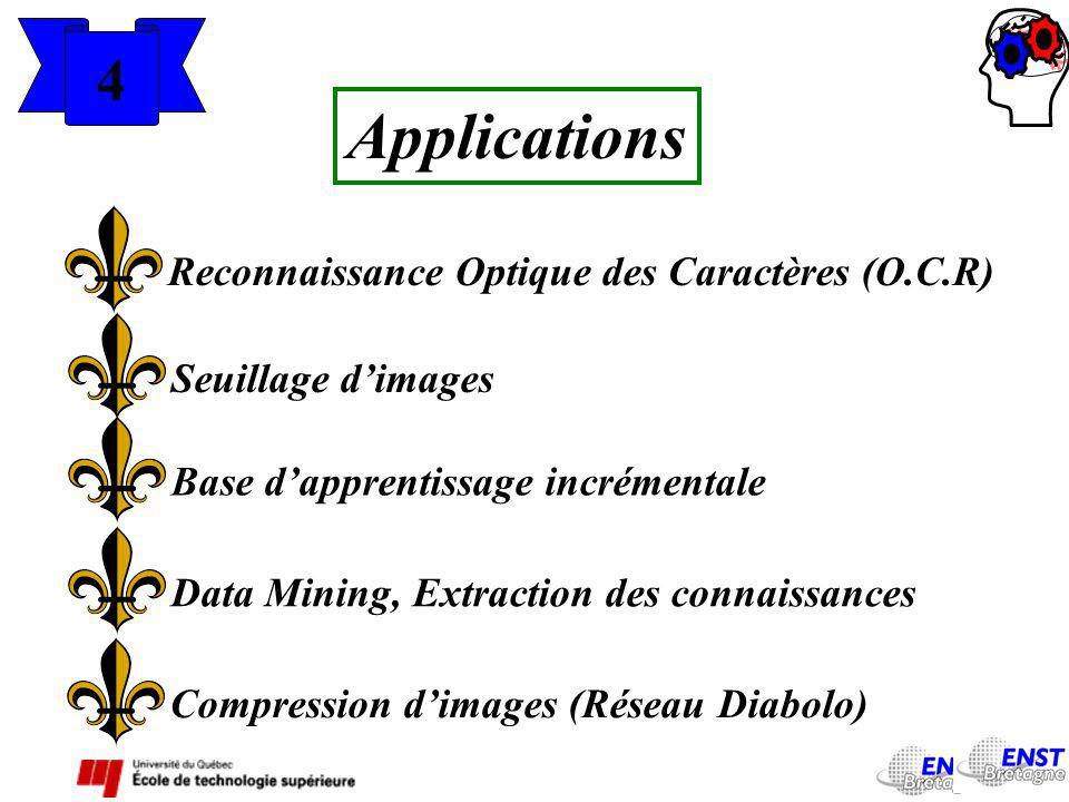 Applications 4 Reconnaissance Optique des Caractères (O.C.R)