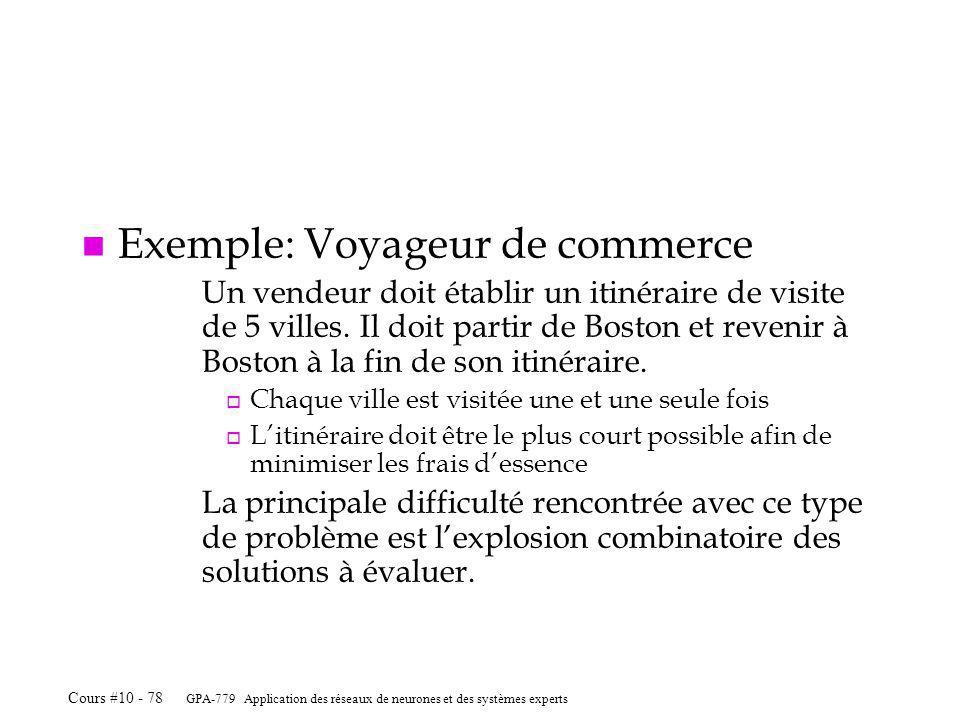 Exemple: Voyageur de commerce