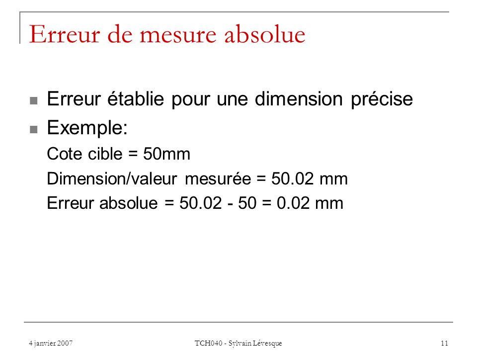 Erreur de mesure absolue