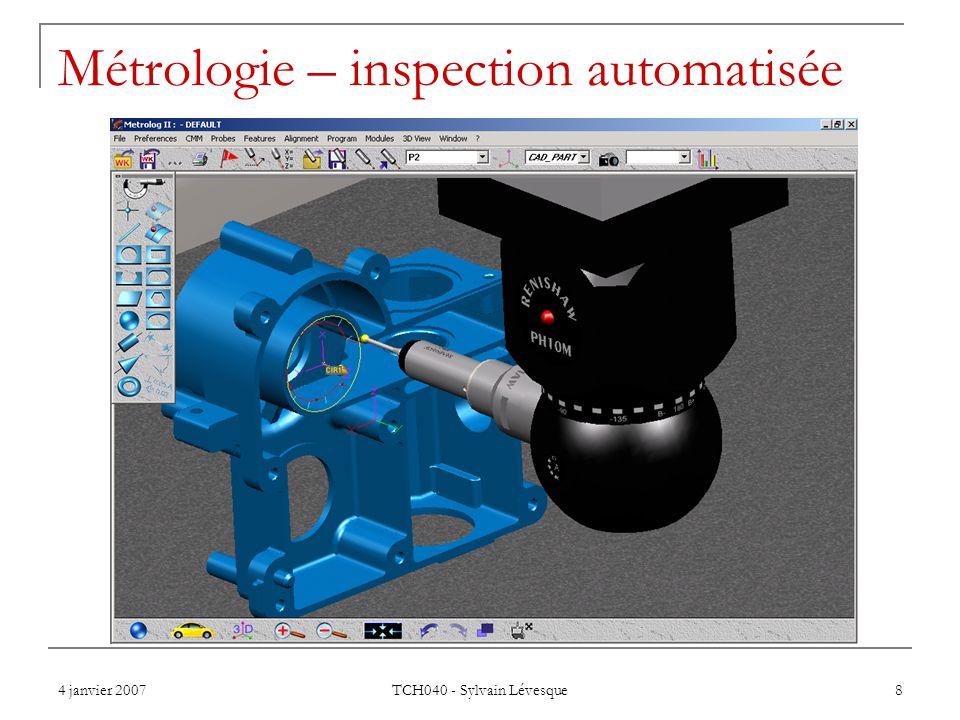 Métrologie – inspection automatisée