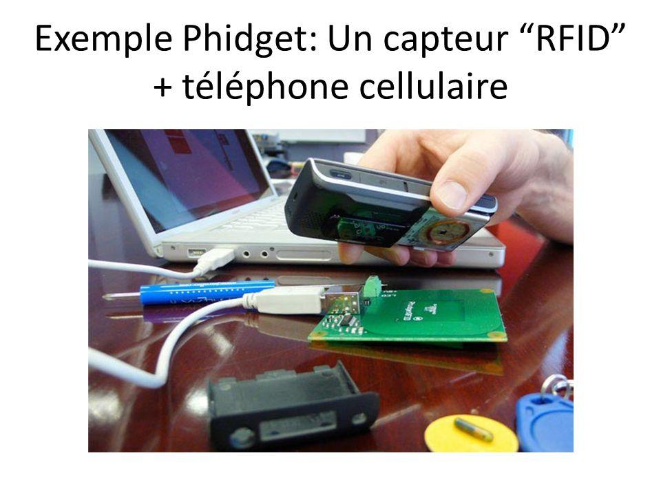 Exemple Phidget: Un capteur RFID + téléphone cellulaire