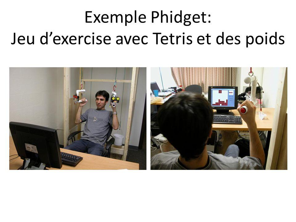 Exemple Phidget: Jeu d'exercise avec Tetris et des poids