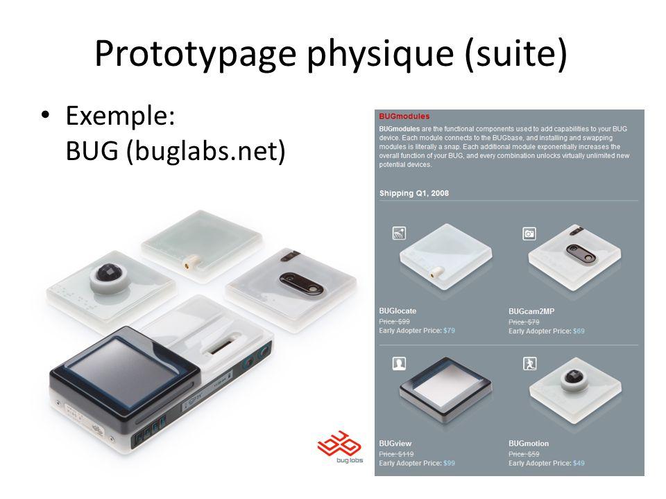 Prototypage physique (suite)