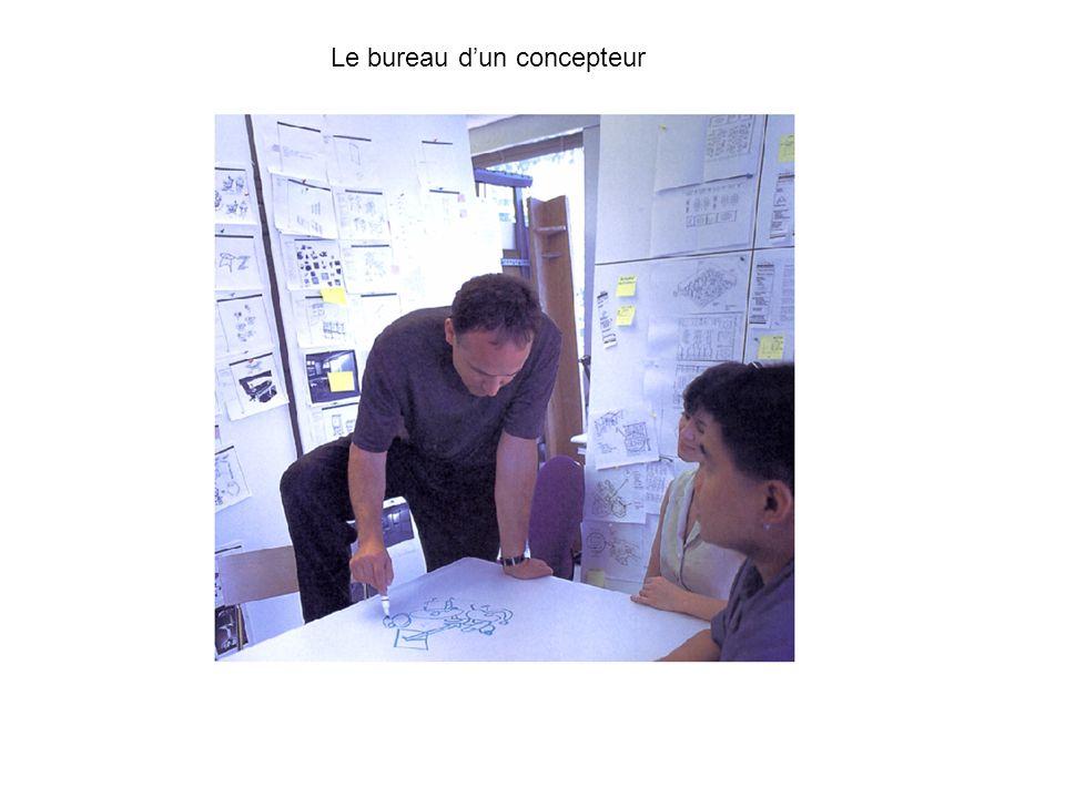 Le bureau d'un concepteur