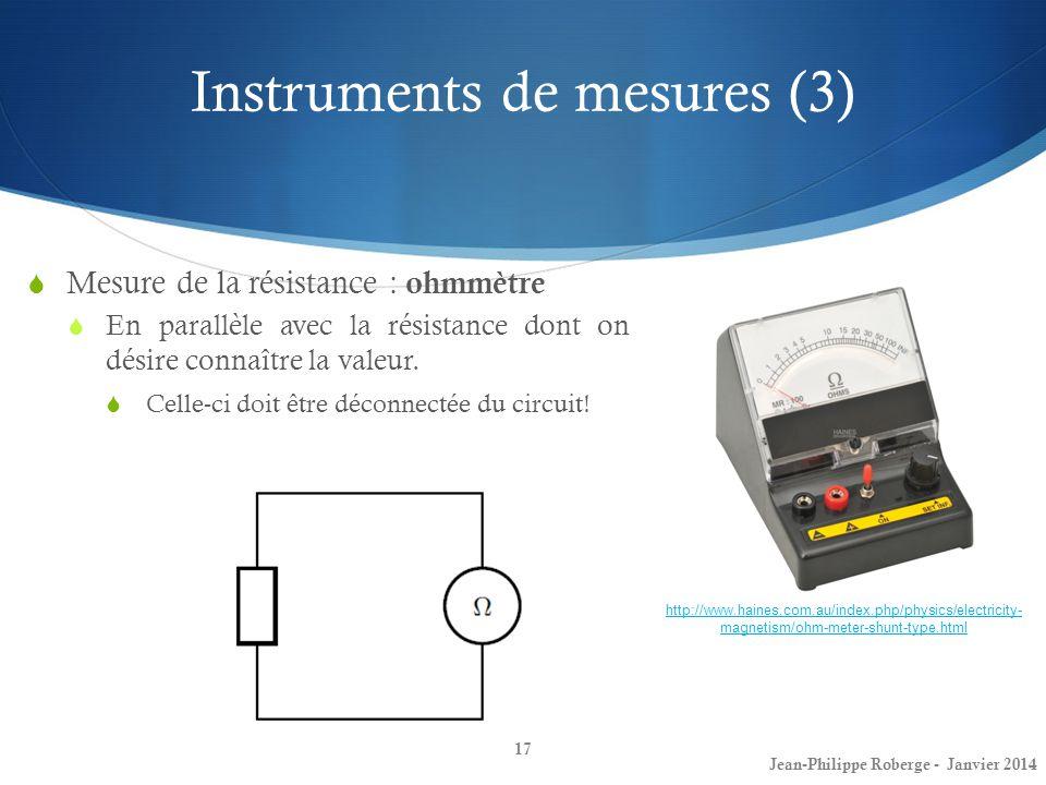 Instruments de mesures (3)