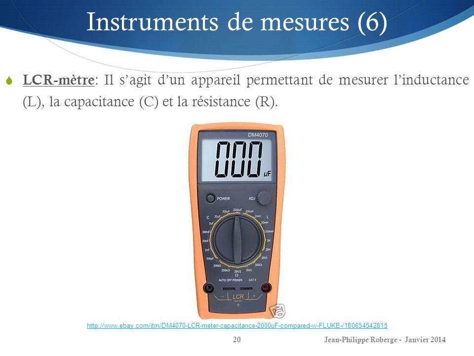 Instruments de mesures (6)