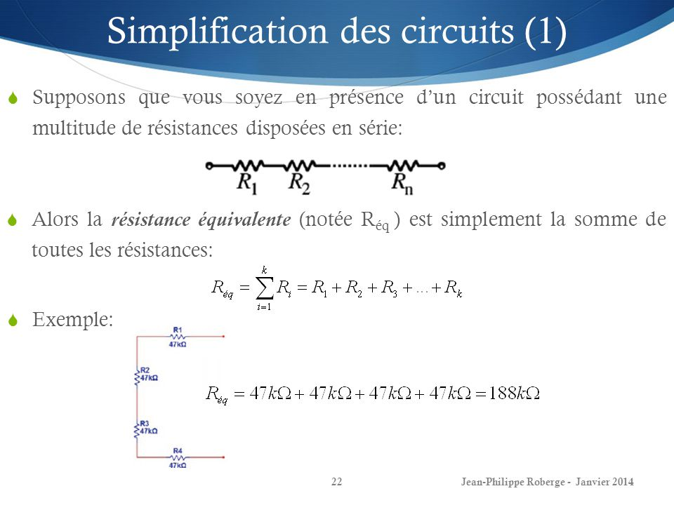 Simplification des circuits (1)