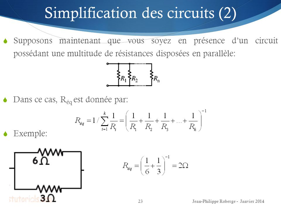 Simplification des circuits (2)
