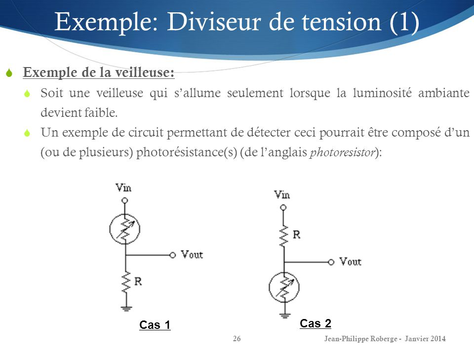 Exemple: Diviseur de tension (1)