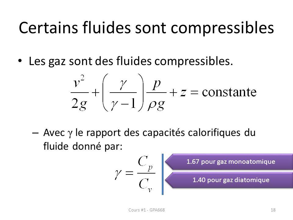 Certains fluides sont compressibles