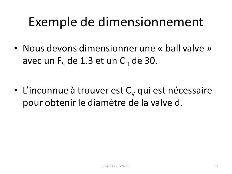 Exemple de dimensionnement
