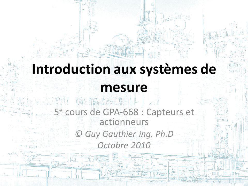 Introduction aux systèmes de mesure