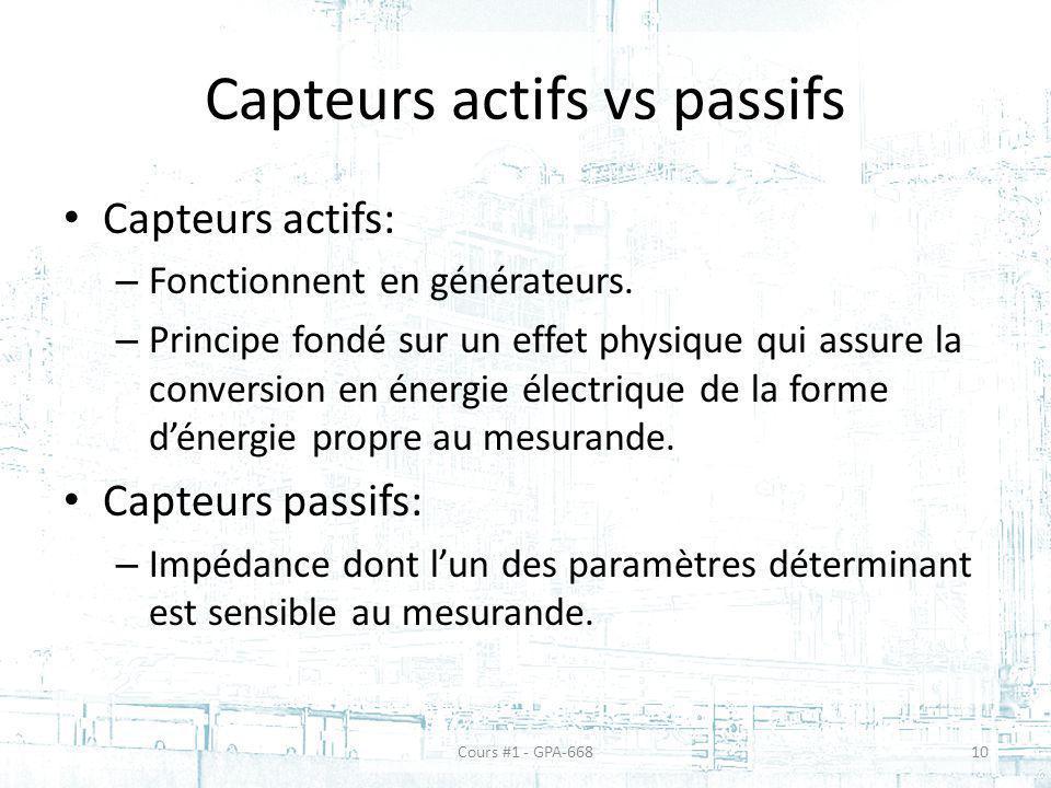 Capteurs actifs vs passifs